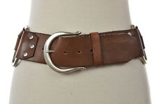 Linea Pelle Collection Womens Belt Size M Brown Leather Waist Wide Width