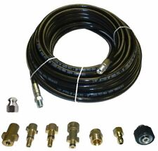 "Sewer Jetter Kit - 50' x 1/4 Hose and Nozzle, 2"" to 4"""