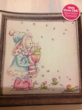 (B) Somebunny To Love Spring Flowers In Snow Cross Stitch Chart