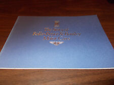 """The Story of Rolls-Royce and Bentley Motor Cars"" 32-page Booklet / About 1990"