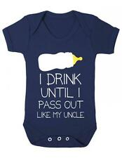 """Baby Play suit """" I drink Until I pass out like my Uncle""""  Baby Grow / Bodysuit"""