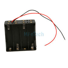 "1pcs New 8 AA 2A LR06 Battery 12V Clip Slot Holder Box Case+ 6"" Leads Wire Black"