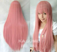 Vocaloid New Long luka ruka smoke Pink Cosplay Wig 100CM +wig cap