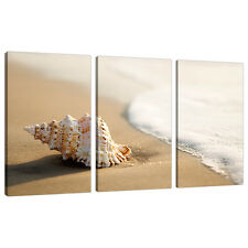 3 Panel Wall Art Beach Canvas Pictures Bathroom Bedroom Prints 3146