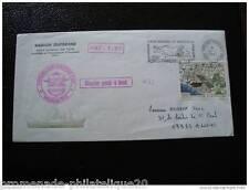 TAAF lettre 16/1/87 - timbre aerien yvert et tellier n°96 (cy4)