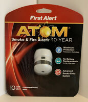 First Alert P1010 Atom Photoelectric Mini Smoke & Fire Alarm 10yr Battery