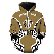 New Orleans Saints Hoodies Sweatshirts Men's Pullover Hooded Casual Jacket Coat