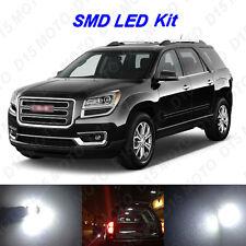 16 x White LED interior Bulbs + License Plate Lights For 2007-2015 GMC Acadia