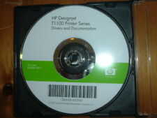 Original Start up disk with Drivers, Manuals for HP DesignJet T1100 Plotters.DVD