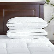 Puredown Premium Down Feather Gusseted Bed Pillows Sleep Weill King Size