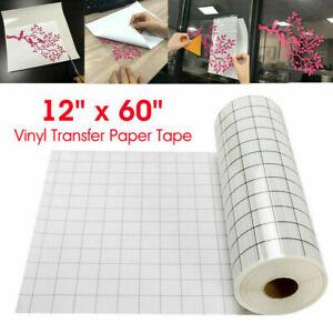 Vinyl Transfer Paper Tape Roll Cricut Adhesive Clear Alignment Grid Sticker US