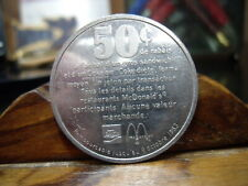 1983 Canada McDonald's.50 Cent Token English On One Side Candian Other Side