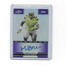 Michael Onwenu 2016 Leaf Purple Auto #13/25