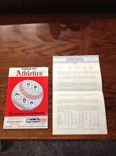 1961 Kansas City Athletics Scorebook New York Yankees Signed Mrs. Mickey Mantle