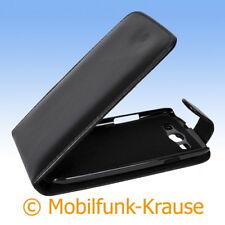 Flip Case Etui Handytasche Tasche Hülle f. Samsung GT-I9300 / I9300 (Schwarz)