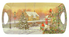 CHRISTMAS ROBIN SERVING TRAY MEDIUM 40CM XMAS FOOD TABLE DECORATION