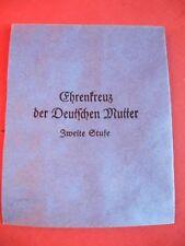 Original Verleihungstüte für Mutterkreuz Orden zweiter Stufe WK 2