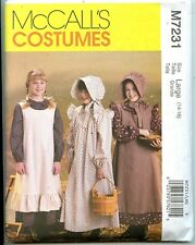 Girls Pioneer Dress, Pinafore & Sunbonnet Pattern - Size Large (14-16) -  Uncut