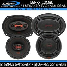 """DS18 GEN-X6.9 6x9"""" + GEN-X6.5 6.5"""" Fullrange Coaxial Car Rear Deck Door Speakers"""