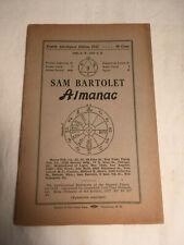 Sam Bartolet ALMANAC Fourth Astrological Edition 1927