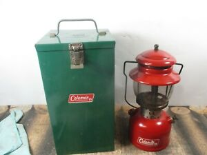 COLEMAN LANTERN 200 RED  W / CASE  DATED 3 - 68 NO RESERVE