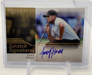 2021 Upper Deck Artifacts Golf Scratch Signatures Autograph RC TONY FINAU Auto