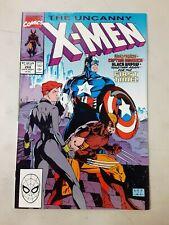 Uncanny X-Men #268 Marvel Comics 1990 Jim Lee Black Widow Captain America