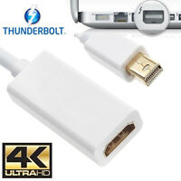 4K Mini Display Port Thunderbolt DP To HDMI Adapter Cable For Macbook Pro Air