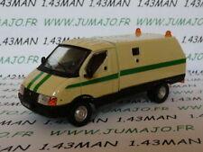 Voiture 1/43 IXO déagostini RUSSE Service : camions Transport de fonds GAZ 3302