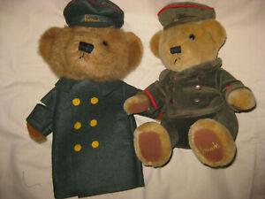 2 HARRODS PLUSH BEARS -LONDON - HAND PUPPET & DOORMAN