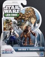 Star Wars Jedi Force Han Solo and Chewbacca Playskool Heroes by Hasbro