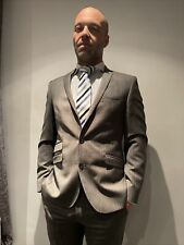 Men's Grigio 2 Pezzi Suit 38R PLUS Camicia E Cravatta GAY INT