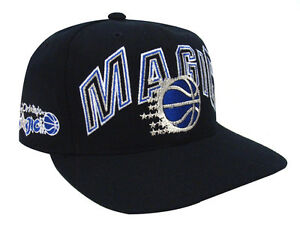 Orlando Magic Snapback Retro Vintage XL Name & Logo Cap Hat Black