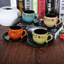 Ceramic Floral Contemporary Cups & Saucers