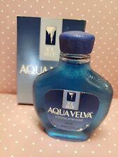 VTG 3.5 OZ AQUA VELVA BEECHAM ICE BLUE COOLING AFTER SHAVE GLASS BOTTLE