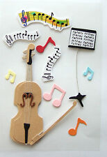 Musical theme 3D Sticker pack , Great for Mens cards, Scrapbooking.