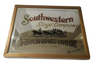 Southwestern Stage Company American Express Company Advertising Mirror
