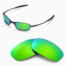 New WL Polarized Emerald Sunglasses Lenses For Oakley Square Wire 2.0 Sunglasses