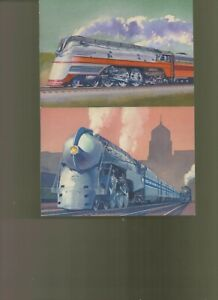 Collection Of Train postal cards all unaddressed not first days a-4