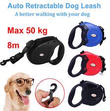 Max 50KG Large Dog Lead Leash Strong Retractable Extendable Lockable Cord 8M UK
