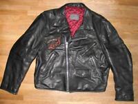 """"""" LEVIS """" Lederjacke / Bikerjacke / Motorrad- Jacke in schwarz XL ca. Gr. 50"""