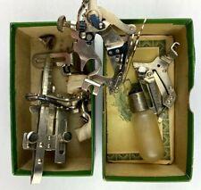 Vintage Singer Sewing Machine Parts Lot w/ Original Box Antique
