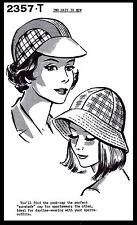 Summer Hats Sew Pattern 2357 -T Millinery CHEMO Hijab Alopecia Golf Beach Sports