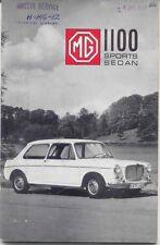 MG 1100 Sports Sedan Original Drivers Handbook 1967 Pub. No. AKD 7041 2 & 4 Door