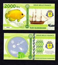 ILES GLORIEUSES ● TAAF / COLONIE ● BILLET POLYMER 2000 FRANCS ★ N.SERIE 000005