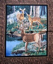 "34"" Fabric Panel - Springs Wild Wings Cradle Rock Nature Deer Wallhanging"