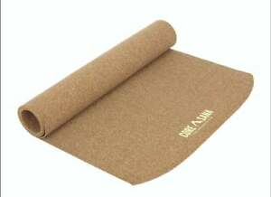 Natural Cork Yoga Mat For Hot And Dry Anti Slip Blended With Natural Rubber