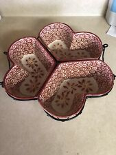 Temptations by Tara. Old World Red Heart dish  Entertainment  Server. Ex.Cond.