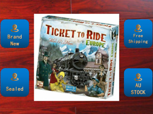 Ticket to Ride Board Game Europe edition Brand New & Sealed AU STOCK