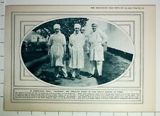 1915 WWI WW1 PRINT NURSES OF LADY PAGET'S HOSPITAL AT USKUB VERMIN-PROOF DRESS